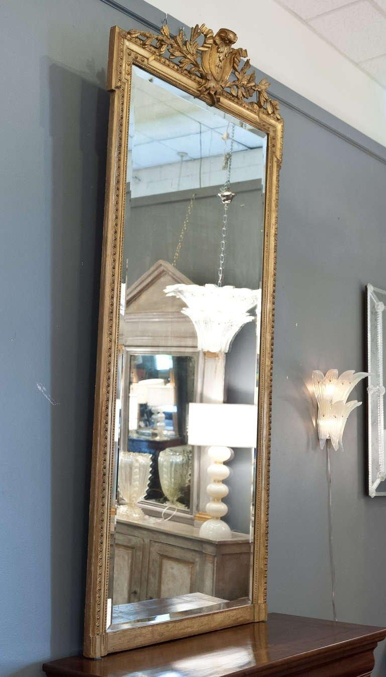 French Napoleon Iii Period Full Length Gold Leafed Mirror At 1Stdibs Within Gold Full Length Mirror (Image 6 of 20)