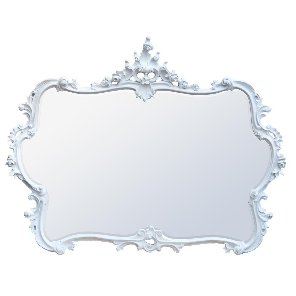 French Rococo Style Mirrors In White Rococo Mirror (Image 9 of 20)