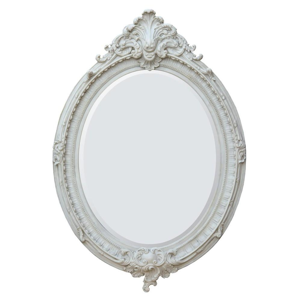 French Rococo Style Mirrors Within White Rococo Mirror (Image 11 of 20)