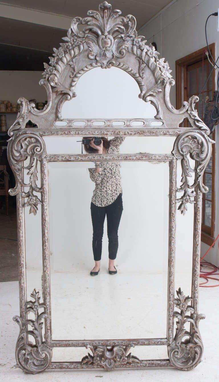 French Silver Gilt Baroque Parclouse Mirror For Sale At 1Stdibs Inside French Wall Mirror (Image 8 of 20)