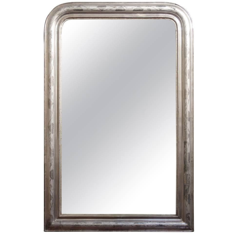 French Silver Gilt Baroque Parclouse Mirror For Sale At 1Stdibs Within Baroque Mirror Silver (Image 12 of 20)