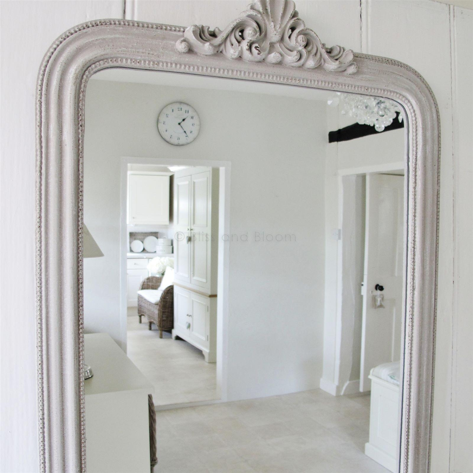 French Style Grey Wall Mirror | Bliss And Bloom Ltd Throughout French Style Wall Mirror (Image 10 of 20)