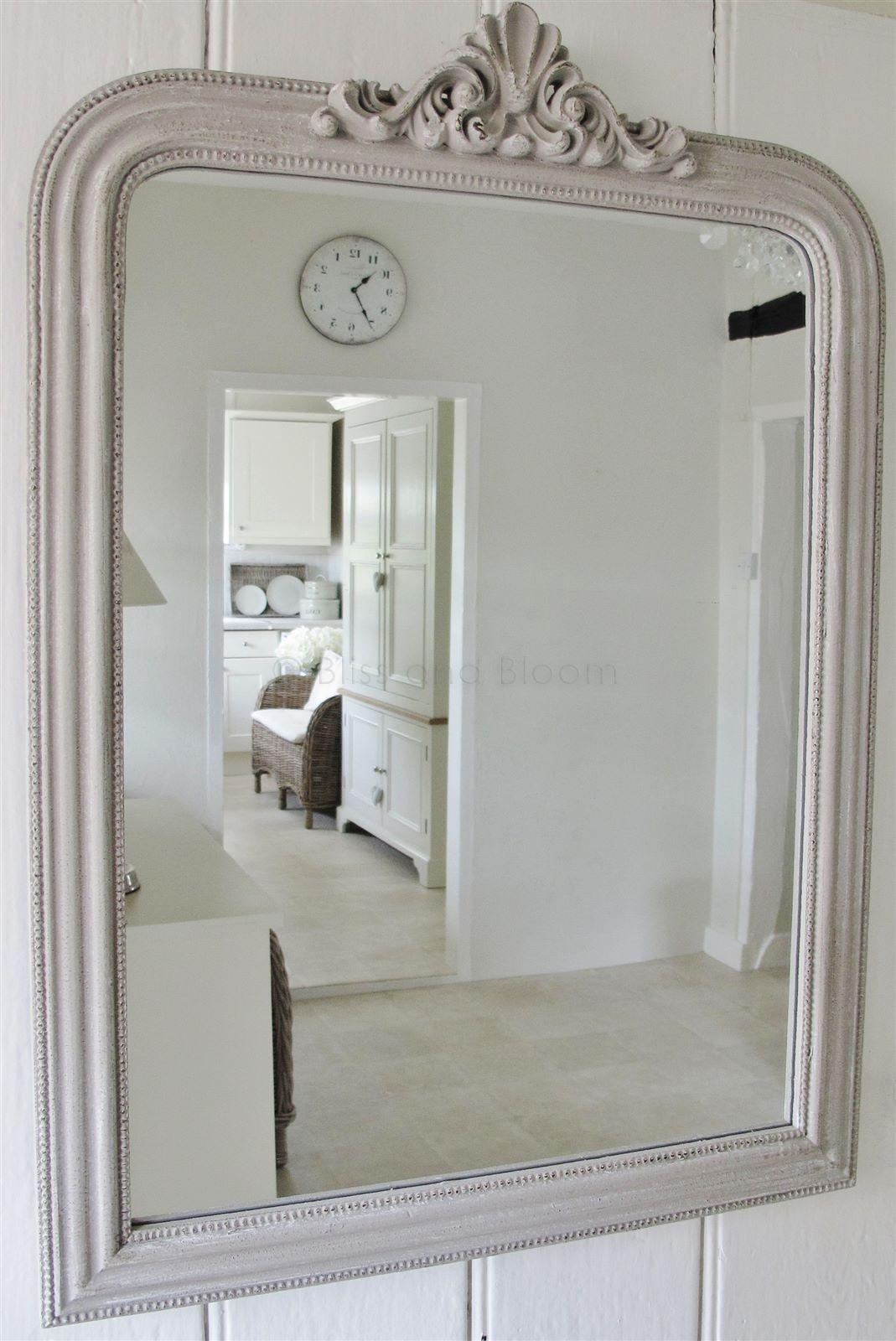French Style Grey Wall Mirror | Bliss And Bloom Ltd With Regard To French Style Wall Mirror (Image 11 of 20)