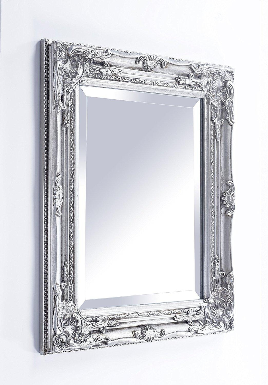 French Style Wall Mirror 64 Outstanding For Silver French Style Intended For French Style Wall Mirror (Image 16 of 20)