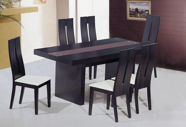 Fresh And Glass Top Designer Table And Chairs Set Modern Dining Pertaining To Modern Dining Table And Chairs (Image 14 of 20)