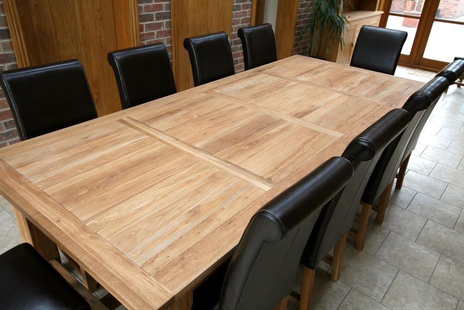 Fresh Oak Dining Table And Chairs Sale #26269 Throughout Big Dining Tables For Sale (Image 16 of 20)