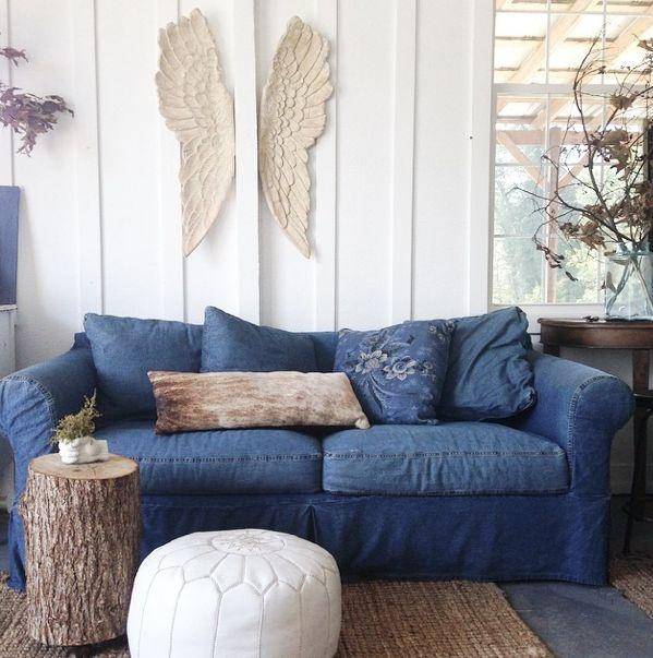 From The Nesting Place Instagram A Little Shot Of Our 10 Year Old Throughout Denim Sofas And Loveseats (Image 16 of 20)