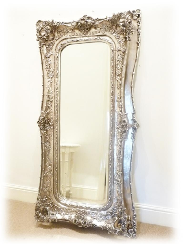 Full Length Decorative Wall Mirrors Mirrors Grand Silver Full Pertaining To Silver Long Mirror (Image 4 of 20)