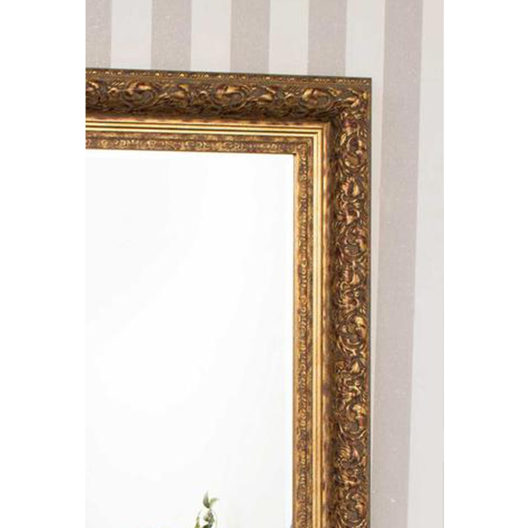 Full Length Gold Antique French Style Mirror | Decorative Mirrors With Regard To French Style Full Length Mirror (Image 12 of 20)