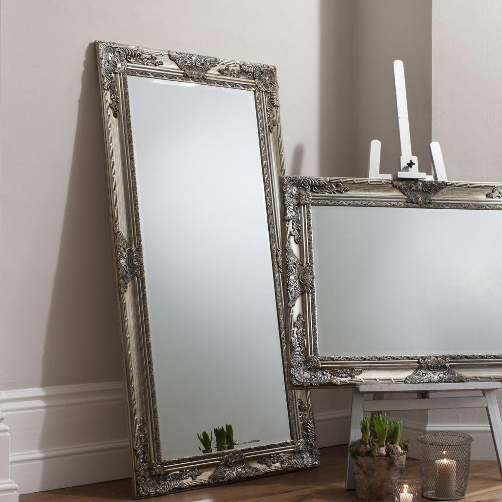 Full Length Leaning Mirror 87 Cute Interior And Large Leaning Inside Large Floor Mirrors (Image 9 of 20)