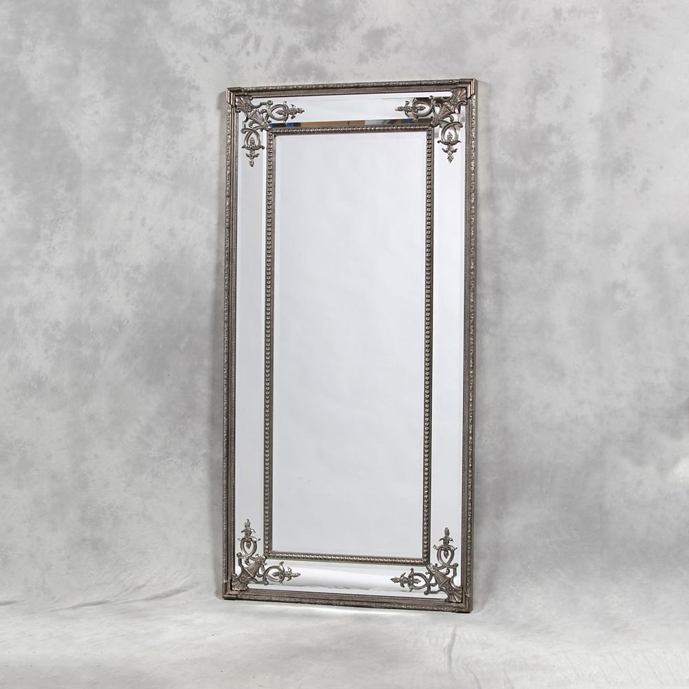 Full Length Mirrors | Exclusive Mirrors Pertaining To Large Pewter Mirror (Image 5 of 20)