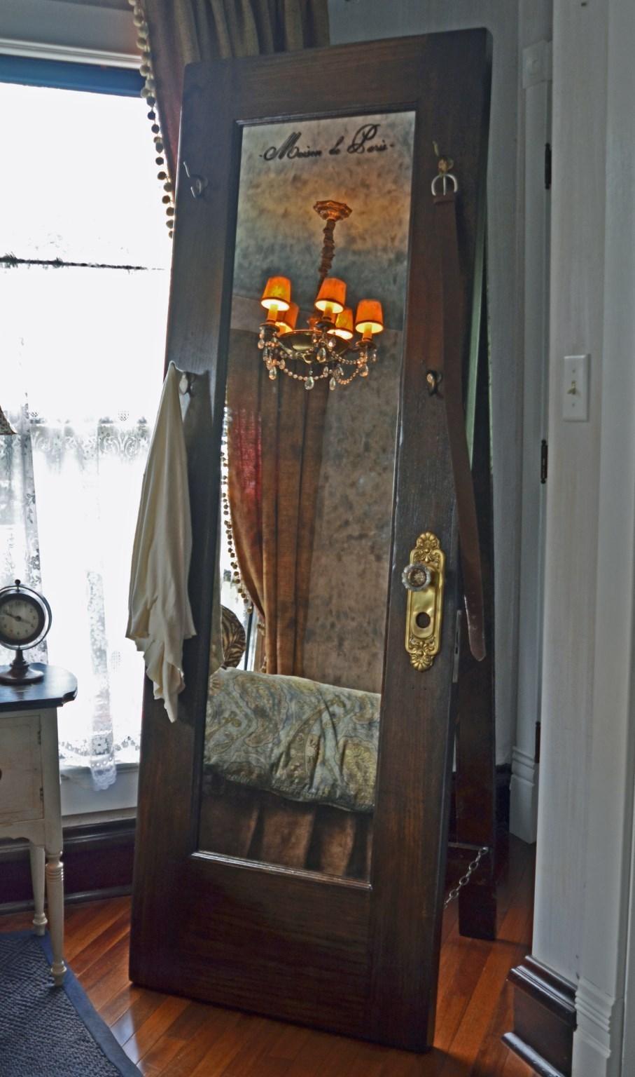 Full Length Standing Mirror – Vintage Door Standing Mirror With Hooks Within Vintage Full Length Mirror (Image 15 of 20)