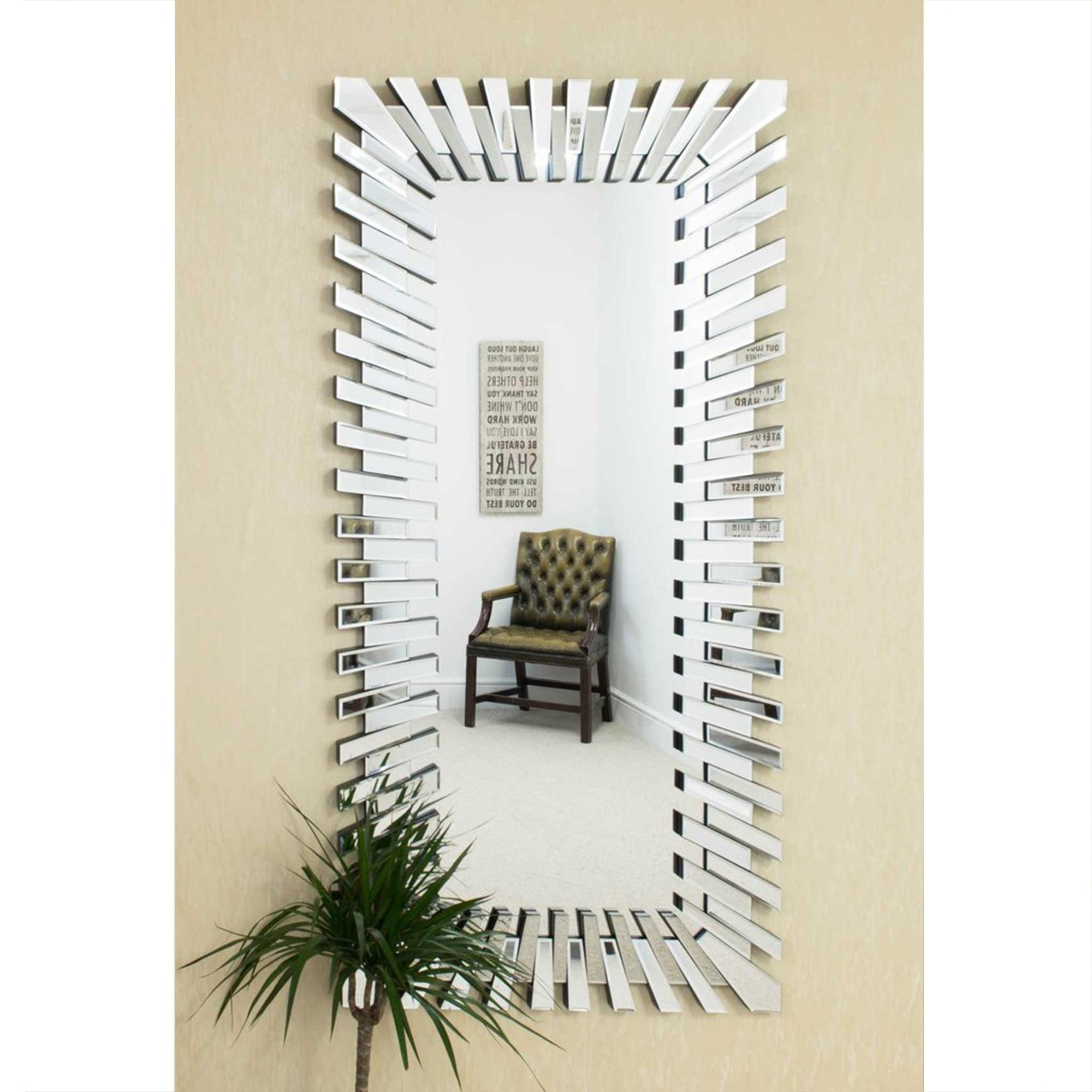 Full Length Starburst Frameless Venetian Mirror | Decorative Mirrors Inside Full Length Venetian Mirror (Image 10 of 20)