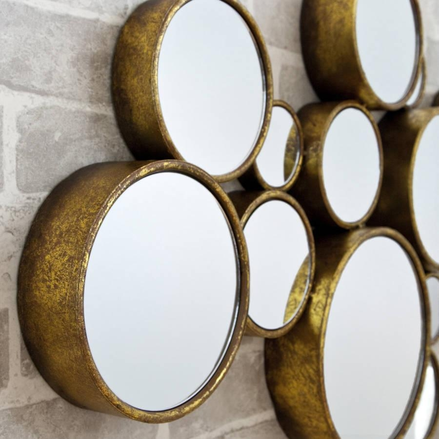 Funky' Circles Mirrordecorative Mirrors Online Intended For Funky Round Mirrors (Image 7 of 20)