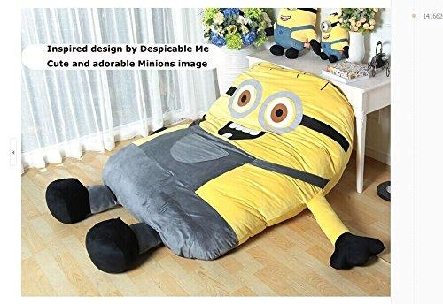 Funny Despicable Me Minions Sleeping Bag Sofa Bed Twin Bed Double Inside Sleeping Bag Sofas (Image 7 of 20)