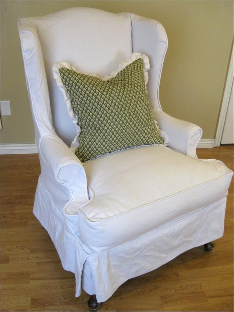 Furniture: Armless Chair Slipcover For Room With Unique Richness Inside Armless Slipcovers (Image 5 of 20)