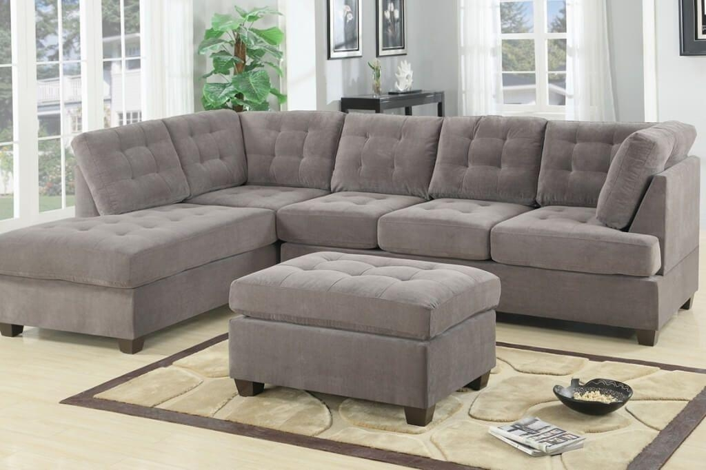 Furniture: Best Microfiber Cheap Sectional Couch With Tufted Within Affordable Tufted Sofas (Image 11 of 20)