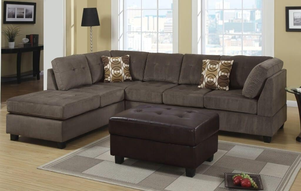 Furniture: Best Microfiber Cheap Sectional Couch With Tufted Within Affordable Tufted Sofas (View 12 of 20)