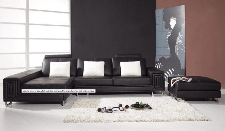 Furniture Black Modern Couches And White Couch Leather | Newmediahub Inside Black Modern Couches (Image 8 of 20)