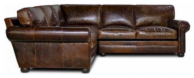 Furniture Distressed Leather Sectional Sofas | Newmediahub With Brompton Leather Sectional Sofas (Image 8 of 20)