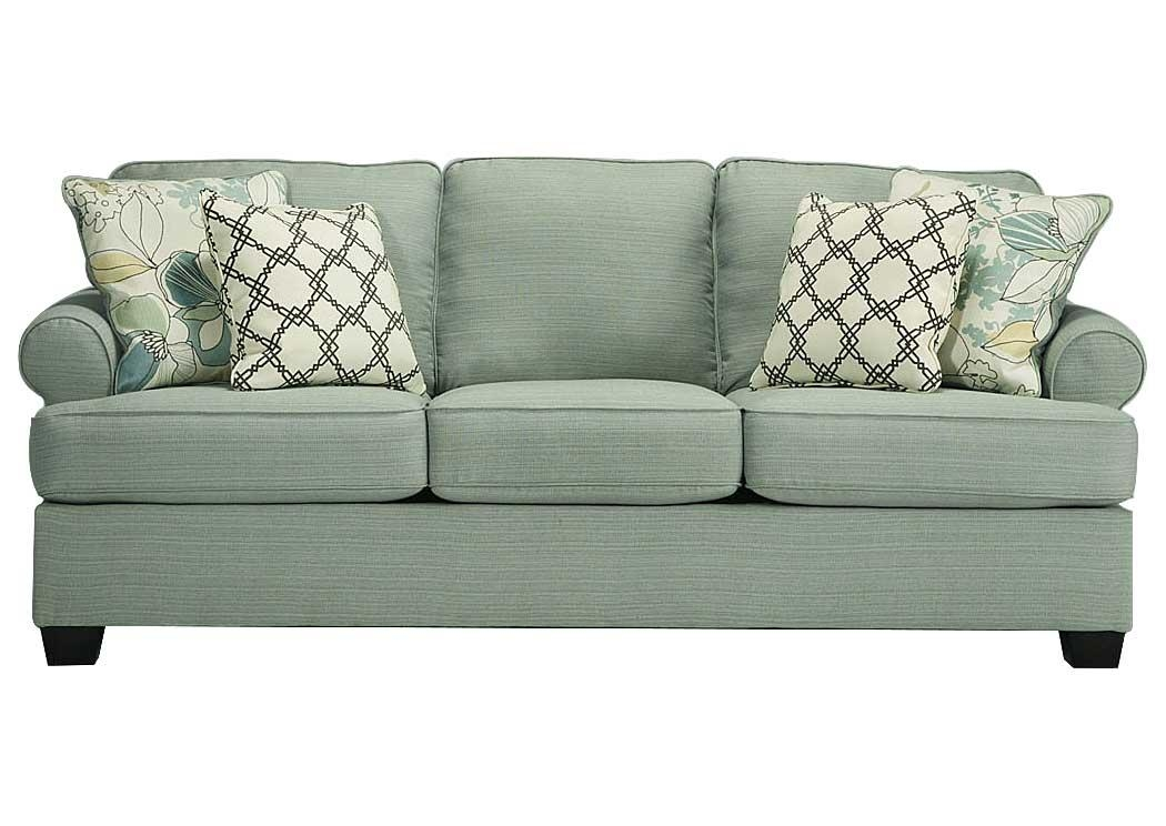 Furniture Exchange Daystar Seafoam Sofa In Seafoam Sofas (Image 8 of 20)