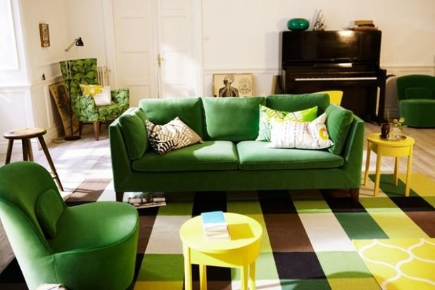 Furniture. Green Sofas Living Rooms Design Inspiration (Image 10 of 20)