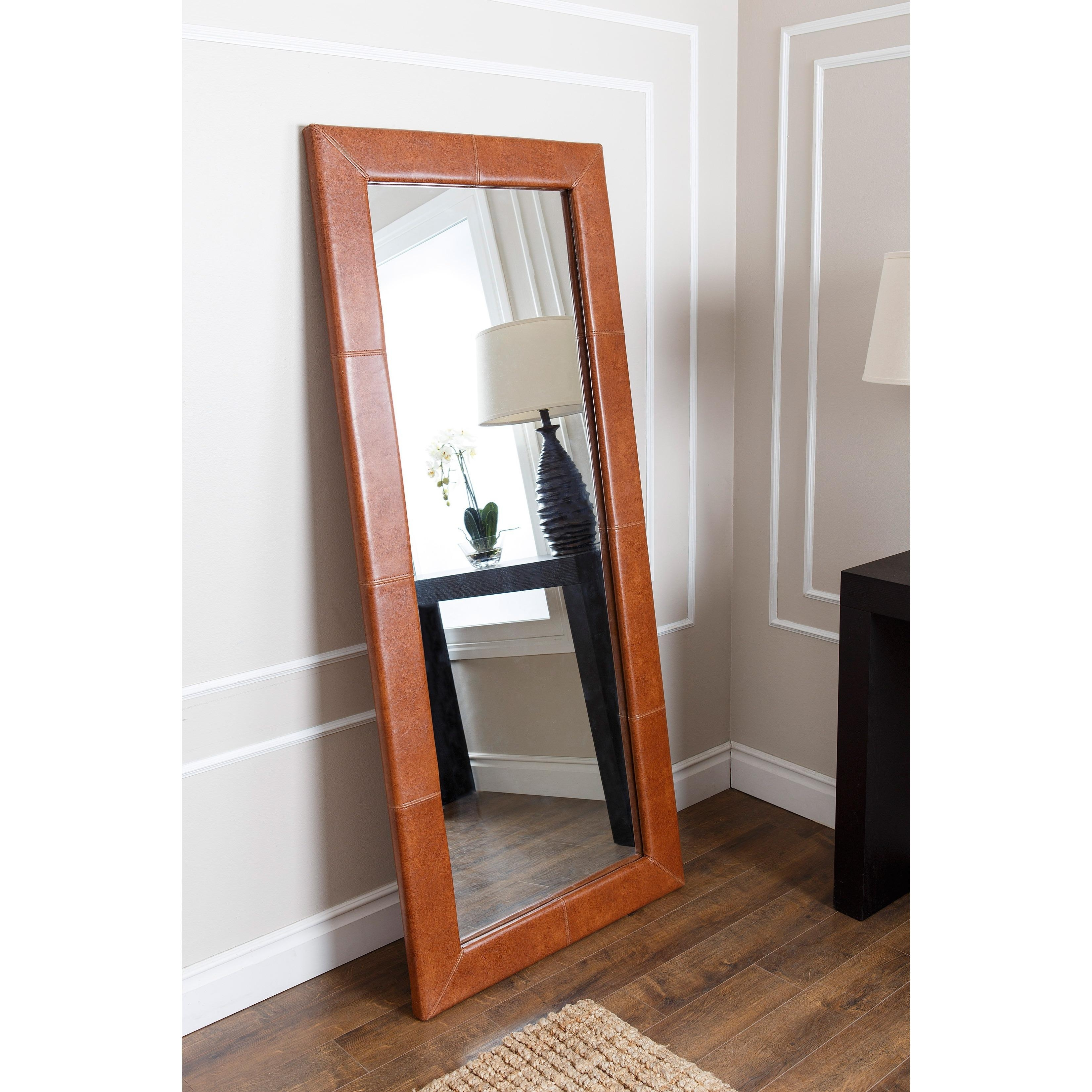 Furniture: Luxury Leaner Mirror For Home Accessories Ideas — Mtyp In Large Pewter Mirror (Image 6 of 20)
