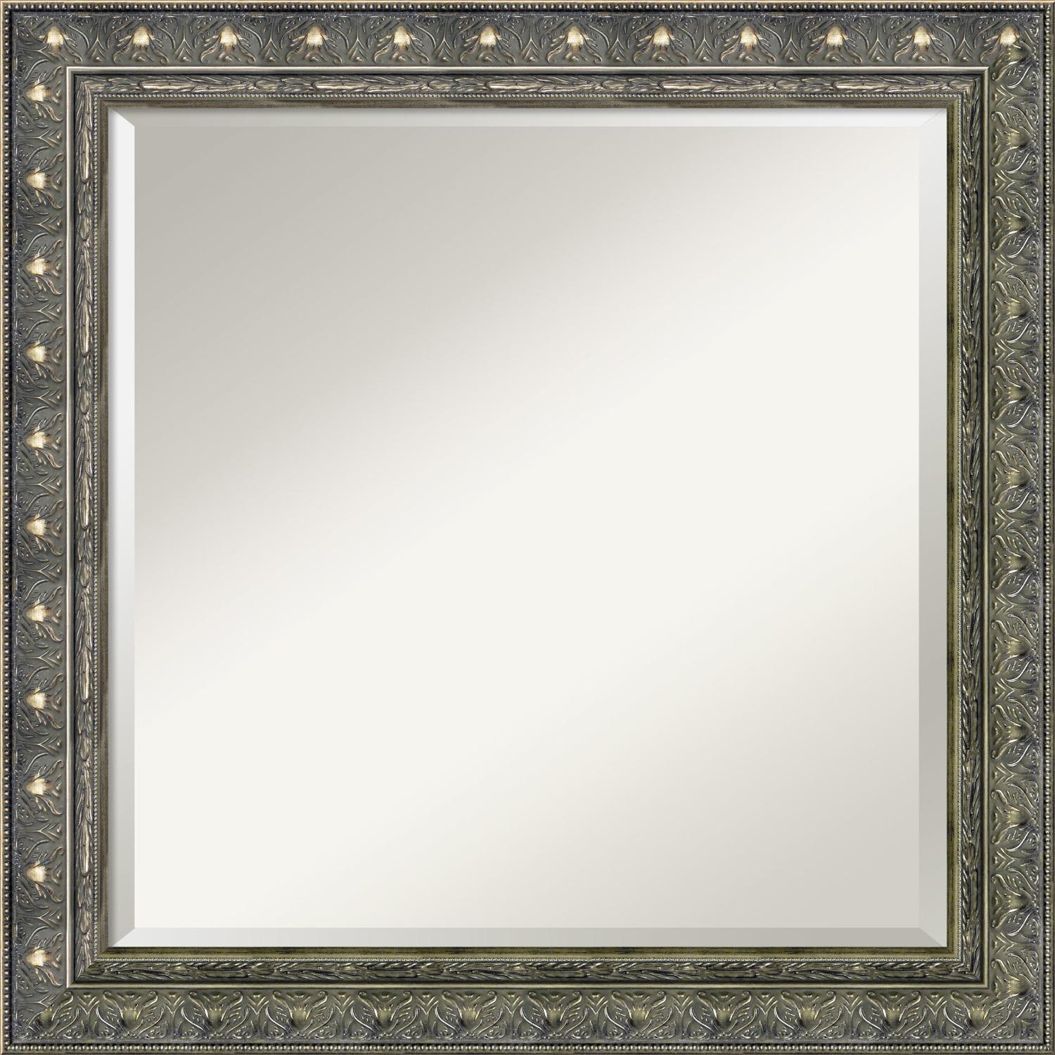Furniture: Luxury Leaner Mirror For Home Accessories Ideas — Mtyp Inside Large Pewter Mirror (Image 7 of 20)