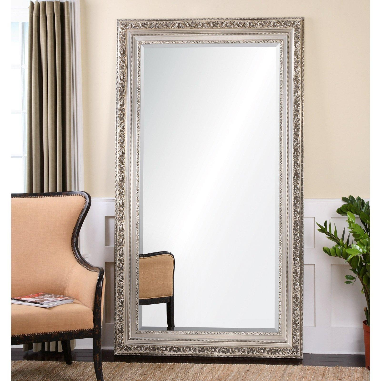 Furniture: Mesmerizing Oversized Floor Mirror For Home Furniture Inside Oversized Antique Mirror (Image 16 of 20)