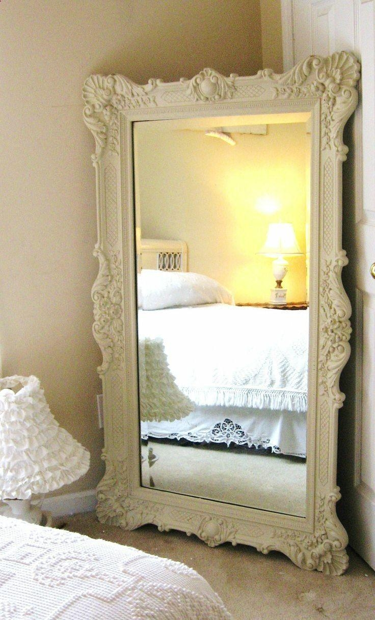 Furniture: Mesmerizing Oversized Floor Mirror For Home Furniture Throughout Cream Vintage Mirror (Image 9 of 20)