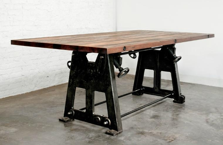 Furniture Of America Aralla Industrial Style Dining Table For Intended For Industrial Style Dining Tables (Image 10 of 20)