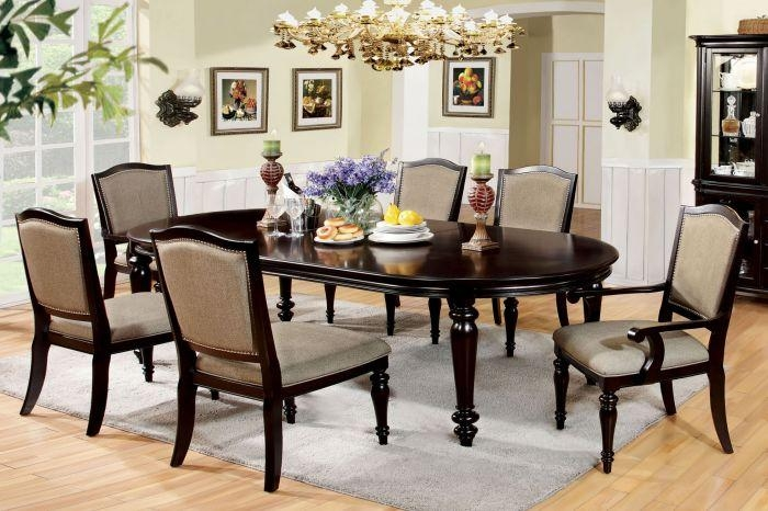 Furniture Of America Cm3970T Cm3970Ac Cm3970Sc Harrington 7 Pieces For Walnut Dining Table Sets (View 4 of 21)