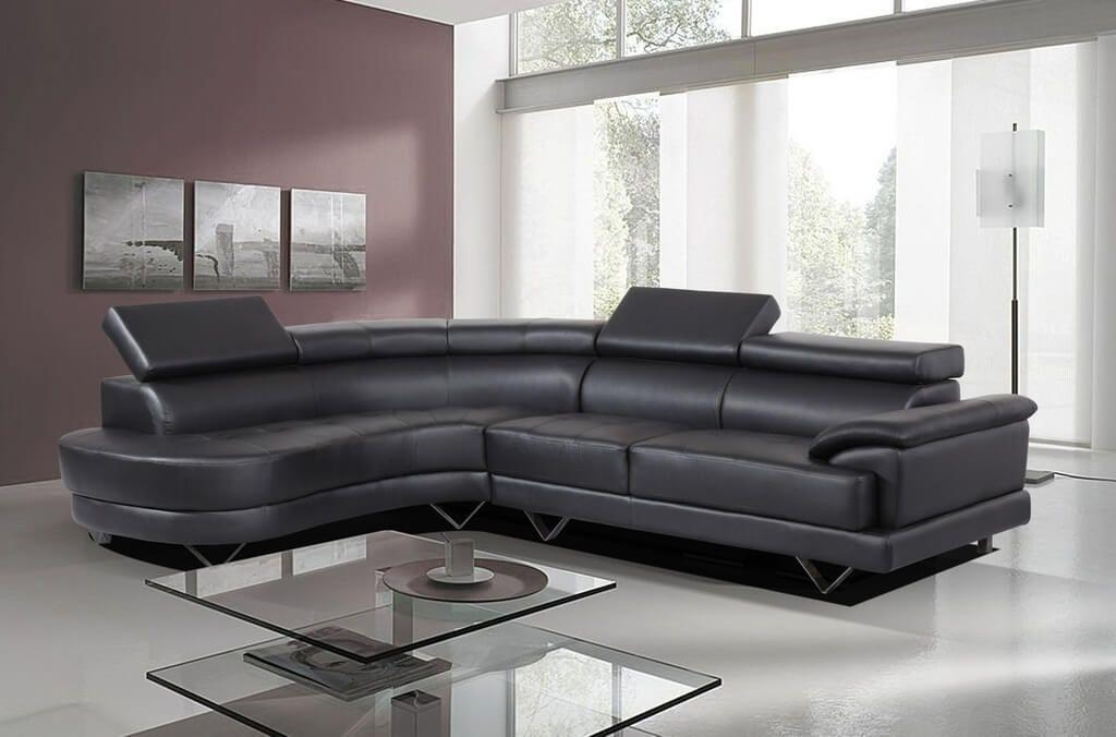 Furniture: Viana Brown Leather Tufted Corner Sofa Ideas – Tips To Intended For Black Leather Corner Sofas (Image 13 of 20)
