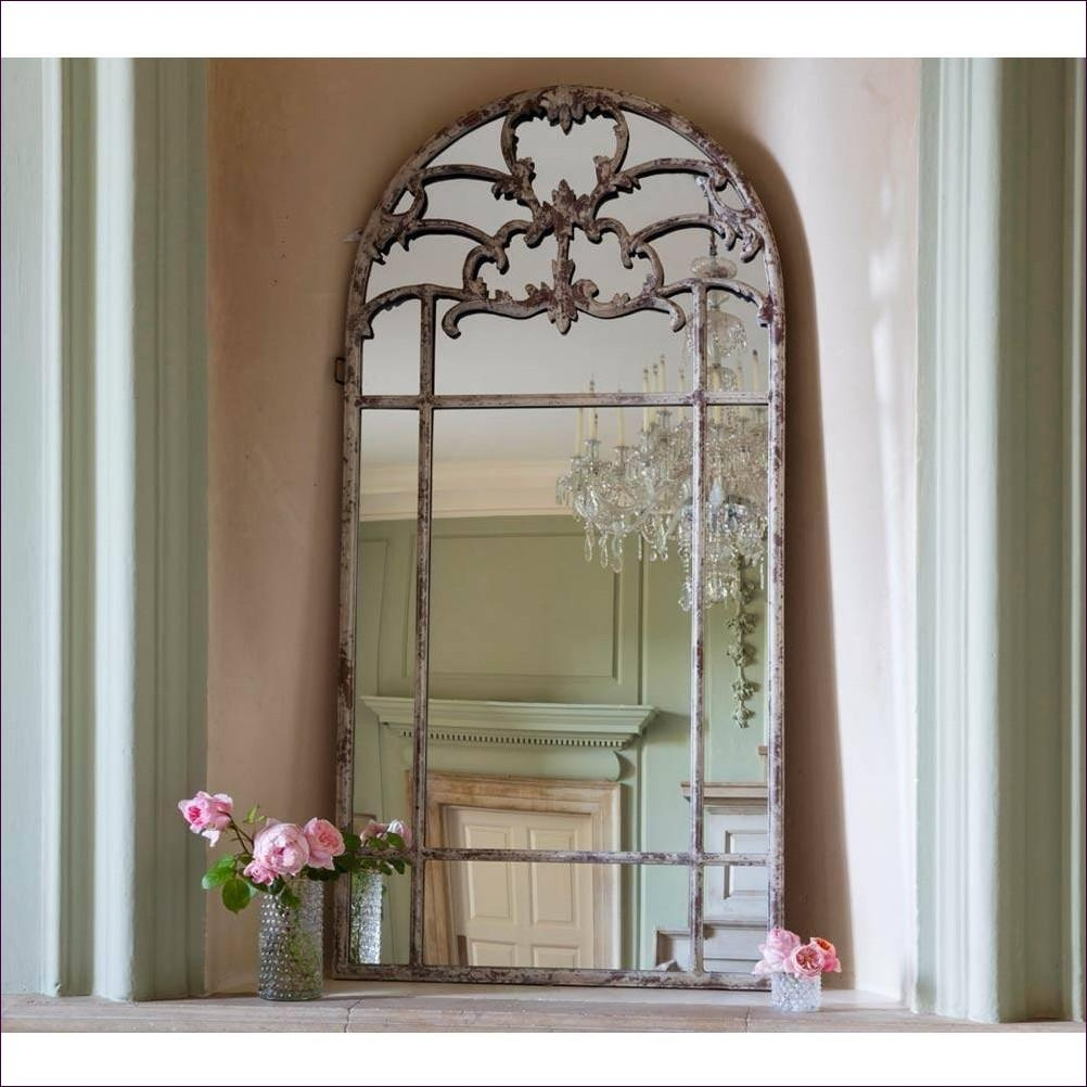 Furniture : White Leaning Floor Mirror Silver Standing Mirror Big Inside Silver Free Standing Mirror (Image 11 of 20)