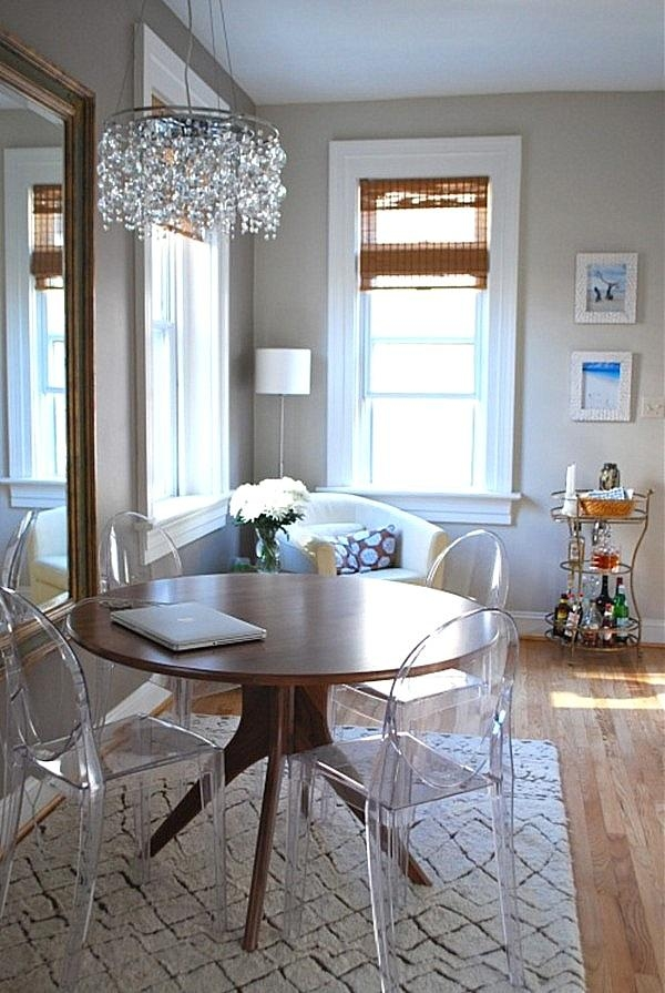 Furnitures : Dining Room With Round Dining Table And Acrylic Throughout Round Acrylic Dining Tables (Image 14 of 20)