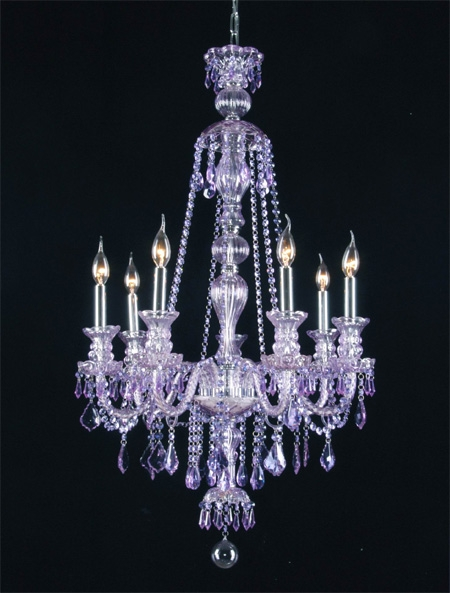 G46 Purplesm4907 Chandelierking Royal Collection Purple In Purple Crystal Chandeliers (Image 12 of 25)
