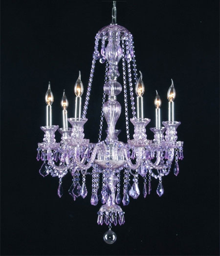 G46 Purplesm4907 Chandelierking Royal Collection Purple With Purple Crystal Chandeliers (View 2 of 25)