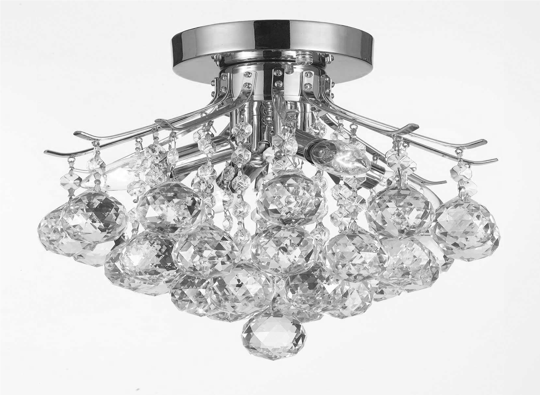 G93 Cs8769 Gallery Empire Style For 4 Light Crystal Chandeliers (Image 8 of 25)
