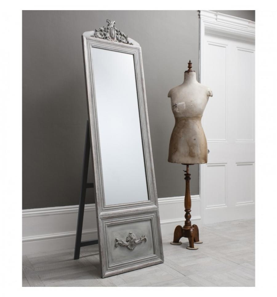 Gallery Direct Modern And Elegant Belvedere Cheval Mirror In Cream Inside Cream Cheval Mirror (View 7 of 20)