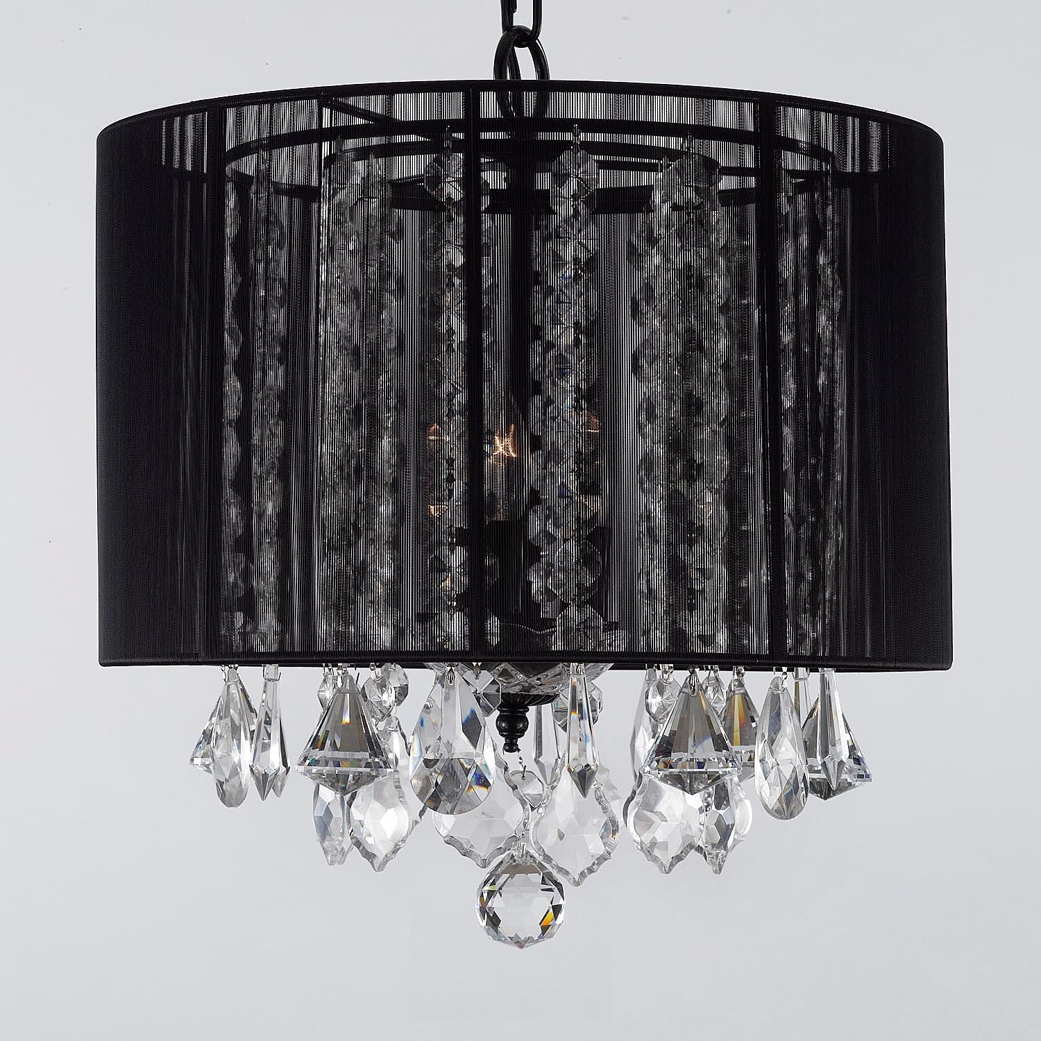 Gallery Lighting Sm 604 3 3 Light Crystal Chandelier With Black Throughout 3 Light Crystal Chandeliers (Image 9 of 25)