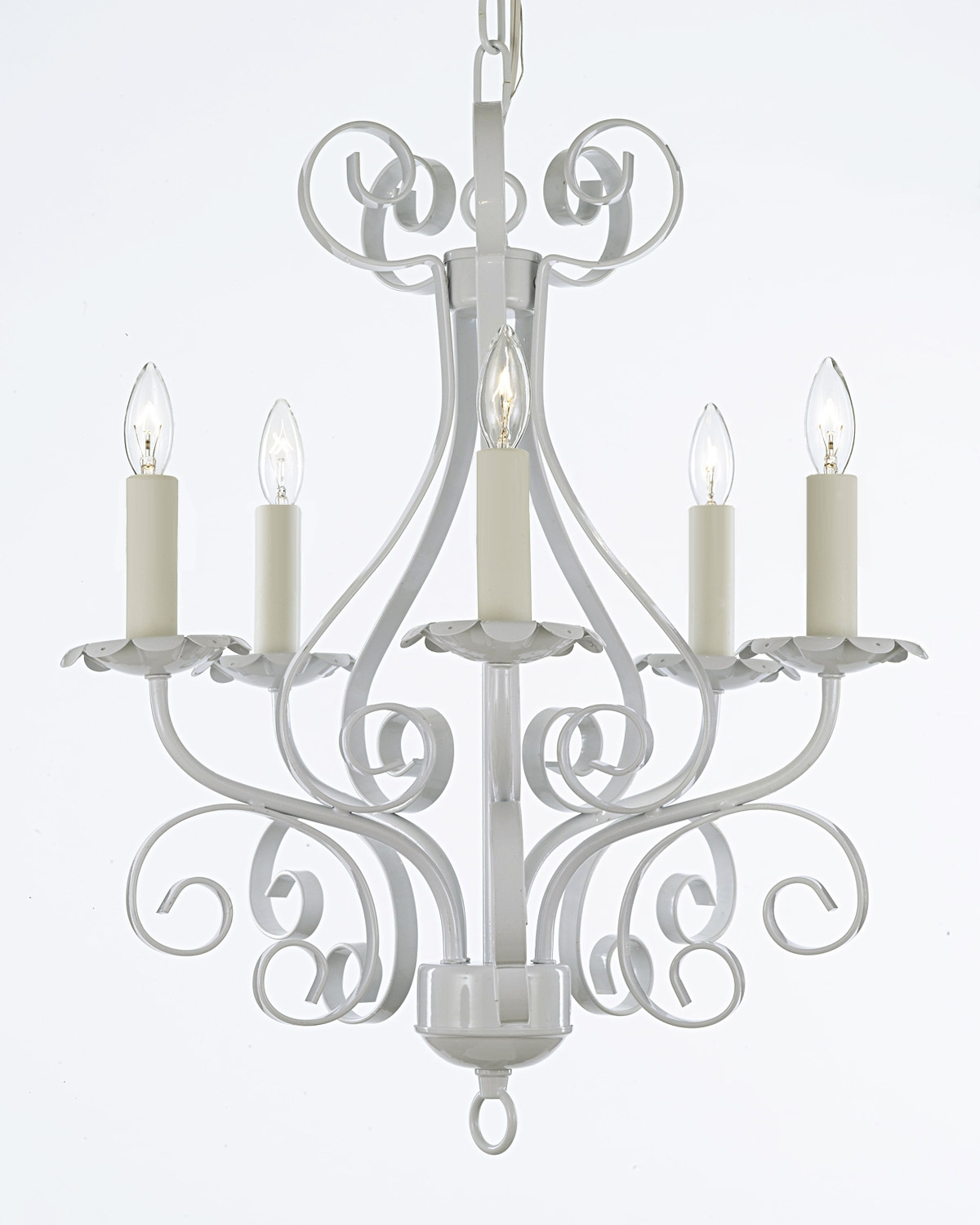 Gallery Regarding White And Crystal Chandeliers (Image 18 of 25)