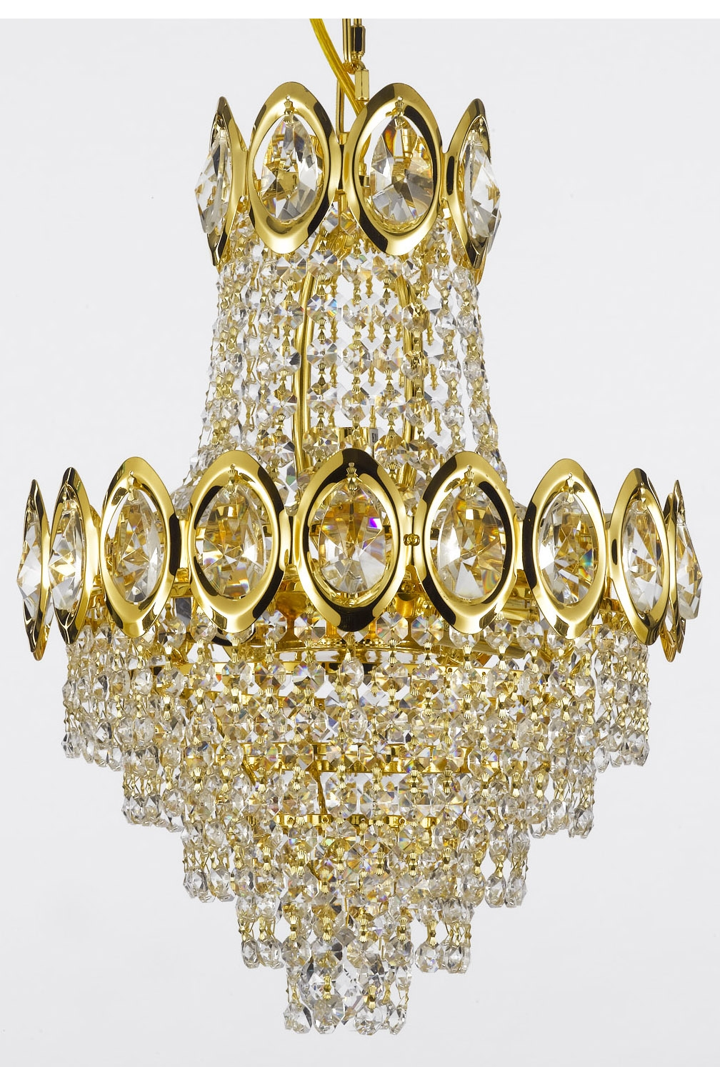 Gallery With Regard To Crystal Gold Chandeliers (Image 12 of 25)