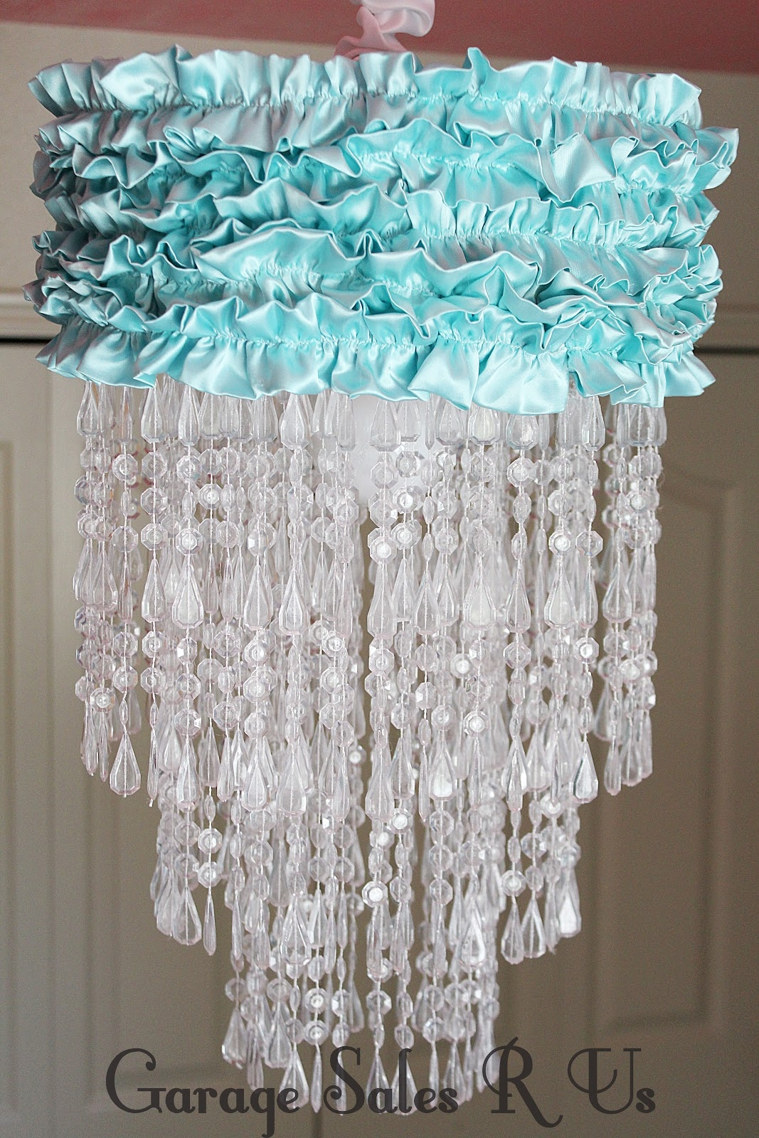 Garage Sales R Us Diy Chandelier Intended For Turquoise Chandelier Lamp Shades (Image 13 of 25)