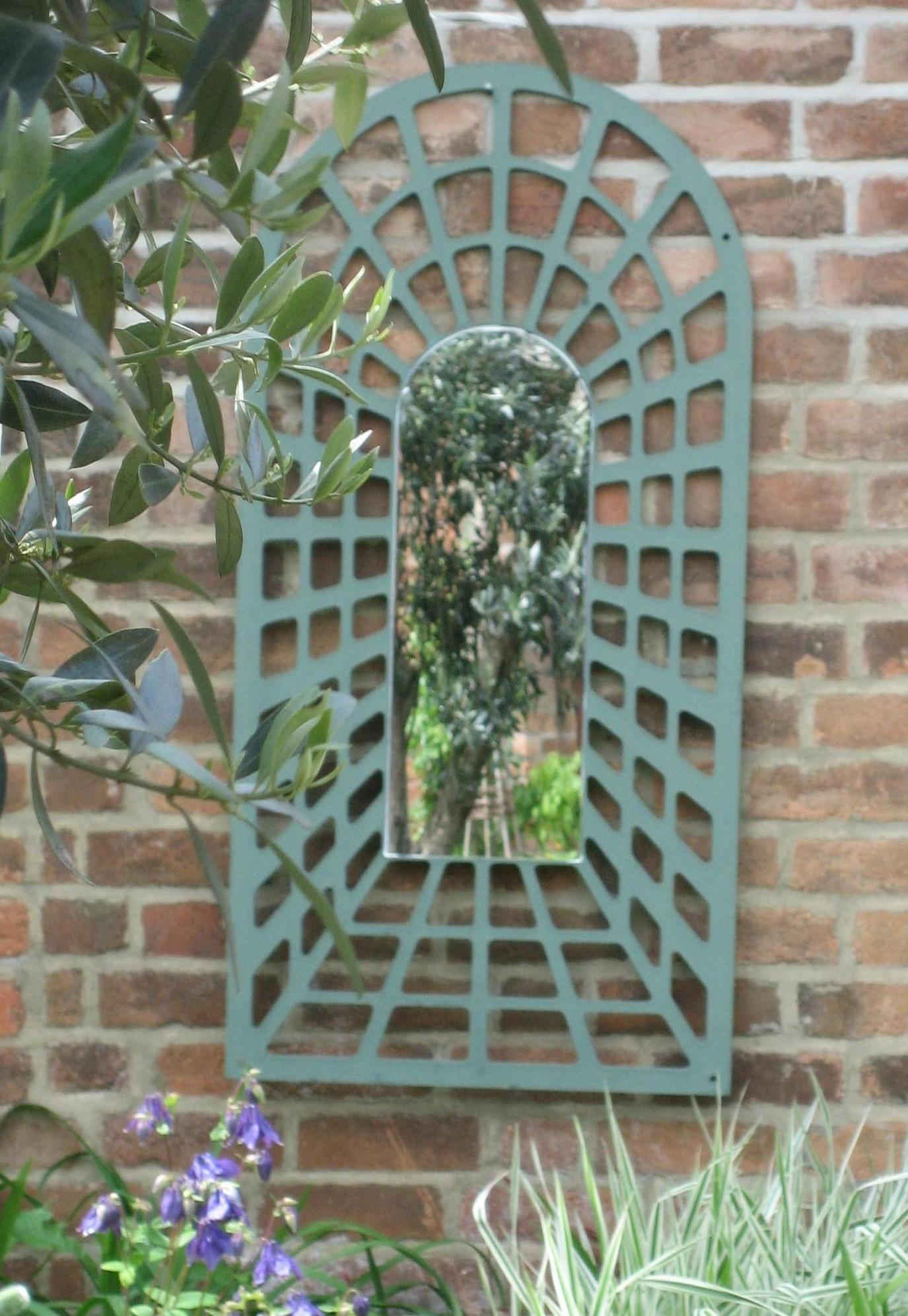 Garden Mirrors | Parallax Plastics With Large Garden Mirrors (Image 11 of 20)