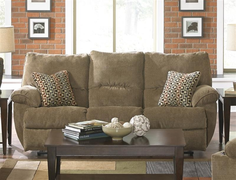 "Gavin Reclining Sofa In ""desert"" Color Fabriccatnapper – 1451 D With Regard To Catnapper Reclining Sofas (Image 8 of 20)"