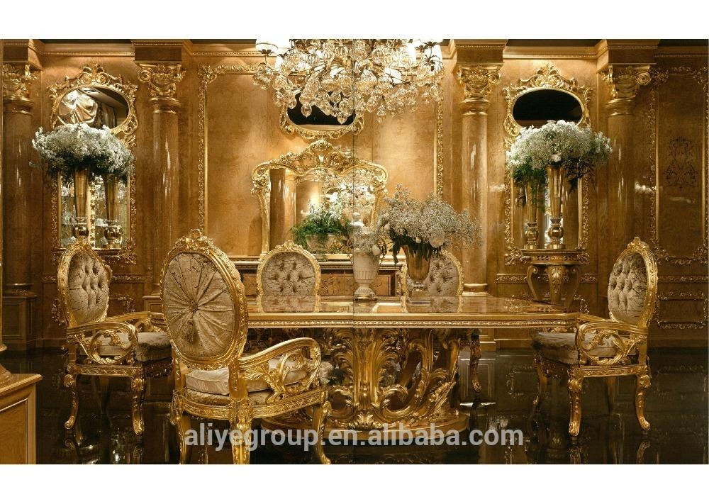 Gdm 014 Royal Wedding Dining Table Sets Baroque Dining Room Luxury In Royal Dining Tables (Image 9 of 20)