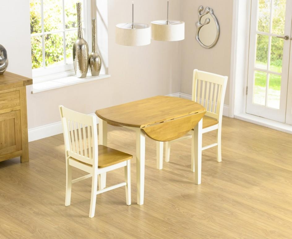 Genoa 100Cm Drop Leaf Extending Dining Table Set With Chairs | The In Drop Leaf Extendable Dining Tables (Image 14 of 20)
