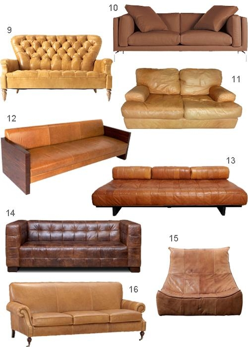 Get The Look: 28 Leather Sofas In Cognac, Tobacco & Caramel In Carmel Leather Sofas (Image 14 of 20)