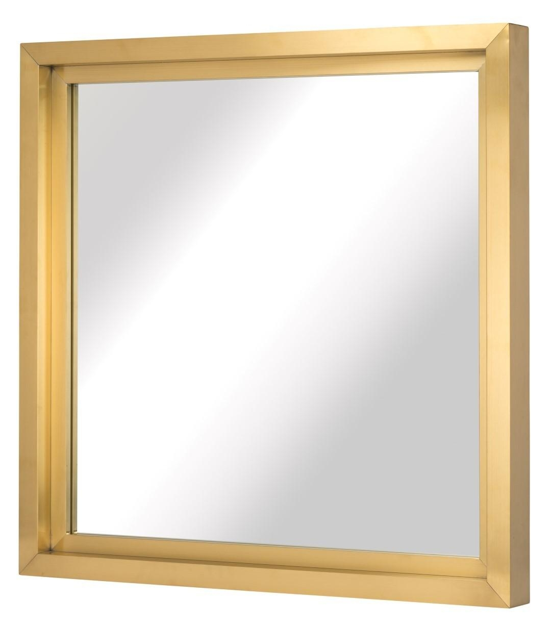 Glam Square Wall Mirror (Multiple Colors/sizes)Nuevo Living Within Square Gold Mirror (Image 6 of 20)