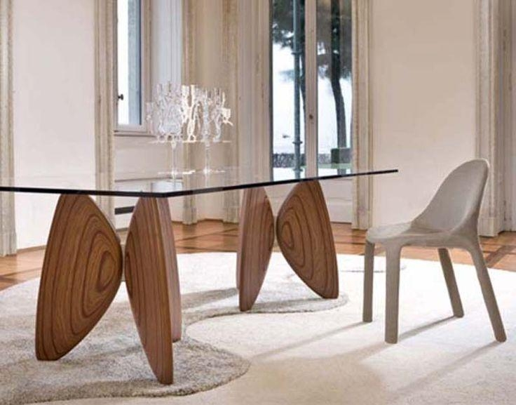 Glass And Wood Dining Tables Throughout Wood Glass Dining Tables (Image 10 of 20)